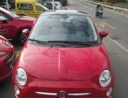 Fiat 500 1.2 Lounge rouge 1